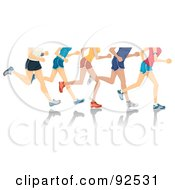 Royalty Free RF Clipart Illustration Of Legs Of Runners