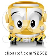 Royalty Free RF Clipart Illustration Of A Friendly Yellow School Bus Character