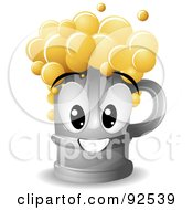 Royalty Free RF Clipart Illustration Of A Friendly Frothy Beer Character by BNP Design Studio