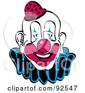 Royalty Free RF Clipart Illustration Of A Goofy Faced Party Clown by Andy Nortnik
