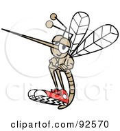 Mosquito With His Arms Crossed