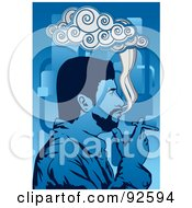 Royalty Free RF Clipart Illustration Of A Smoker 2