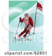 Royalty Free RF Clipart Illustration Of A Professional Olympic Skier
