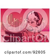 Royalty Free RF Clipart Illustration Of A Construction Worker 5 by mayawizard101
