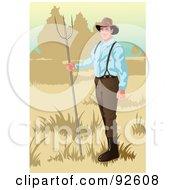 Royalty Free RF Clipart Illustration Of A Farmer 2