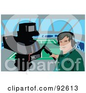Royalty Free RF Clipart Illustration Of A Camera Man 1