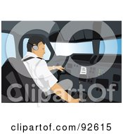Royalty Free RF Clipart Illustration Of A Professional Pilot 2