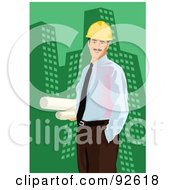 Royalty Free RF Clipart Illustration Of An Engineer 1 by mayawizard101