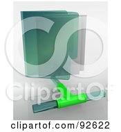 Royalty Free RF Clipart Illustration Of A 3d Green Network Folder Icon On Gray by KJ Pargeter