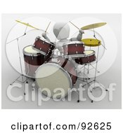 Royalty Free RF Clipart Illustration Of A 3d White Character Drumming