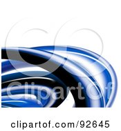 Royalty Free RF Clipart Illustration Of A Background Of 3d Blue Curves Over White