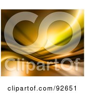 Royalty Free RF Clipart Illustration Of A Background Of Flowing Golden Waves