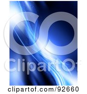 Royalty Free RF Clipart Illustration Of A Background Of Sparkling Blue Mesh Waves