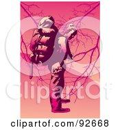 Royalty Free RF Clipart Illustration Of A Backpacker Trekking 7