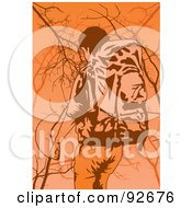 Royalty Free RF Clipart Illustration Of A Backpacker Trekking 5