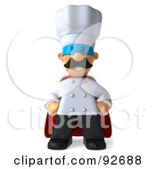 Royalty Free RF Clipart Illustration Of A 3d Chef Man Super Hero by Julos