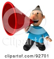 Royalty Free RF Clipart Illustration Of A 3d Casual Man Announcing 2