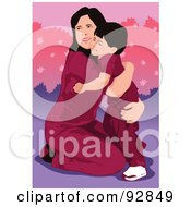 Royalty Free RF Clipart Illustration Of A Loving Mother And Child 1 by mayawizard101