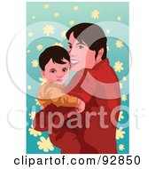 Royalty Free RF Clipart Illustration Of A Loving Mother And Child 2 by mayawizard101