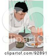 Royalty Free RF Clipart Illustration Of A Professional Culinary Chef 1 by mayawizard101