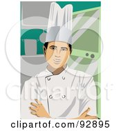Royalty Free RF Clipart Illustration Of A Professional Culinary Chef 8 by mayawizard101