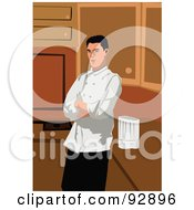 Royalty Free RF Clipart Illustration Of A Professional Culinary Chef 9 by mayawizard101