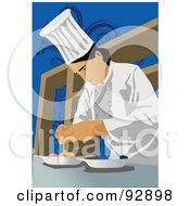 Royalty Free RF Clipart Illustration Of A Professional Culinary Chef 3 by mayawizard101