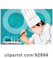 Royalty Free RF Clipart Illustration Of A Professional Culinary Chef 2 by mayawizard101