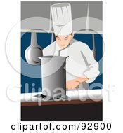 Royalty Free RF Clipart Illustration Of A Professional Culinary Chef 4 by mayawizard101