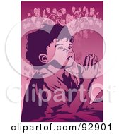 Royalty Free RF Clipart Illustration Of A Praying Person 9