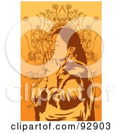 Royalty Free RF Clipart Illustration Of A Praying Person 5