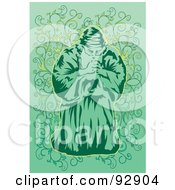 Royalty Free RF Clipart Illustration Of A Praying Person 3