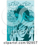 Royalty Free RF Clipart Illustration Of A Praying Person 2