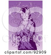 Royalty Free RF Clipart Illustration Of A Praying Person 8