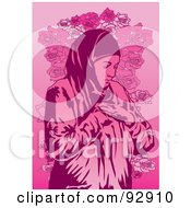 Royalty Free RF Clipart Illustration Of A Praying Person 7