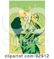Royalty Free RF Clipart Illustration Of A Mom And Child 13 by mayawizard101