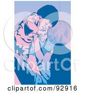 Royalty Free RF Clipart Illustration Of A Mom And Child 10 by mayawizard101
