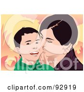 Royalty Free RF Clipart Illustration Of A Mom And Child 28 by mayawizard101