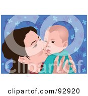 Royalty Free RF Clipart Illustration Of A Mom And Child 4 by mayawizard101