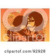 Royalty Free RF Clipart Illustration Of A Mom And Child 29 by mayawizard101