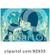 Royalty Free RF Clipart Illustration Of A Mom And Child 14