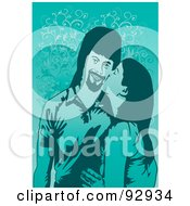 Royalty Free RF Clipart Illustration Of A Loving Couple 3 by mayawizard101