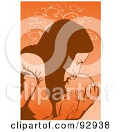 Royalty Free RF Clipart Illustration Of A Mom And Child 9