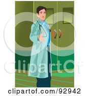 Royalty Free RF Clipart Illustration Of A Doctor 4 by mayawizard101