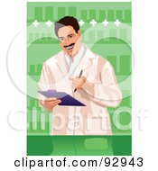 Royalty Free RF Clipart Illustration Of A Doctor 7 by mayawizard101