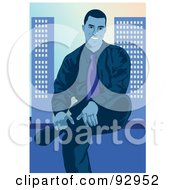 Royalty Free RF Clipart Illustration Of An Urban Business Man 18