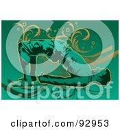 Royalty Free RF Clipart Illustration Of A Yoga Man