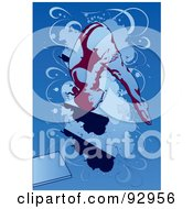 Royalty Free RF Clipart Illustration Of A Female Diver