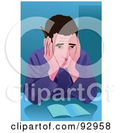 Royalty Free RF Clipart Illustration Of A Business Man In An Office 6 by mayawizard101