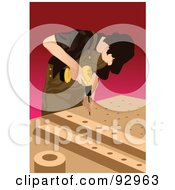 Royalty Free RF Clipart Illustration Of A Woodworker Man 1 by mayawizard101